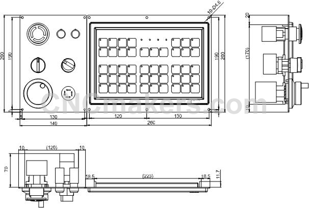 K1000TII_Machine_control_panel_film_button_and_additional_panel