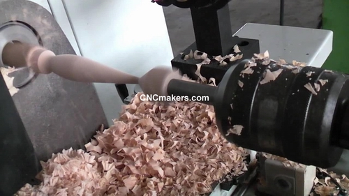 CNC Wood Lathe Working